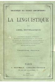 HOVELACQUE Abel - La linguistique