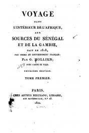 MOLLIEN Gaspard - Voyage dans l'intérieur de l'Afrique, aux sources du Sénégal et de la Gambie, fait en 1818