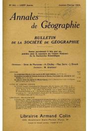 Annales de Géographie - Bulletin de la société de géographie - n° 341