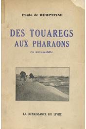 HEMPTINNE Paulo de - Des Touaregs aux Pharaons en automobile