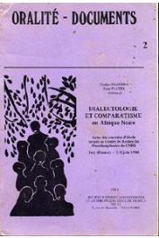GUARISMA Gladys, PLATIEL Suzy ou PLATIEL Suzanne, (éditeurs) - Dialectologie et comparatisme en Afrique noire. Actes des Journées d'études d'Ivry (2-5 juin 1980) - Centre de Recherche Pluridisciplinaire du CNRS
