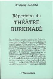 ZIMMER Wolfgang - Répertoire du théâtre burkinabè