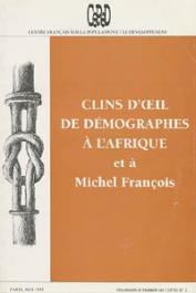 Collectif - Clins d'œil de démographes à l'Afrique et à Michel François