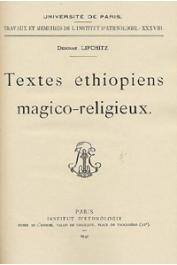LIFCHITZ Deborah - Textes éthiopiens magico-religieux