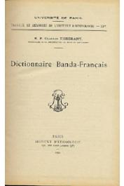 TISSERANT Charles - Dictionnaire Banda-Français