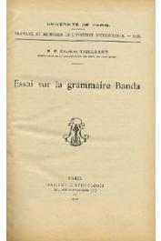TISSERANT Charles - Essai sur la grammaire Banda