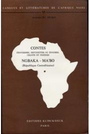 THOMAS Jacqueline M. C.- Contes, proverbes, devinettes ou énigmes, chants et prières Ngbaka-Ma'Bo (République Centrafricaine)