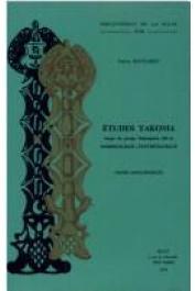 BOYELDIEU Pascal et Alia - Etudes yakoma, langue du groupe oubanguien (RCA): Morphologie-synthématique