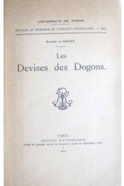 GANAY Solange de - Les devises des Dogons