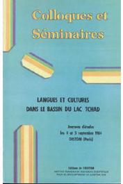 Actes du 1er colloque Méga-Tchad -  Langues et cultures dans le bassin du lac Tchad