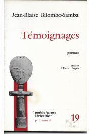 BILOMBO-SAMBA Jean-Blaise - Témoignages