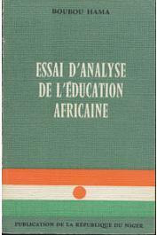 BOUBOU HAMA - Essai d'analyse de l'éducation africaine