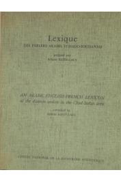 ROTH-LALY Arlette - Lexique des parlers arabes Tchado-Soudanais