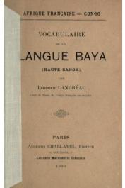 LANDREAU Léopold - Vocabulaire de la langue baya (haute Sanga)