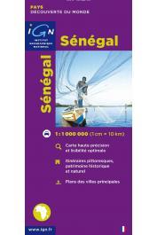 IGN - Carte touristique 1:1 000 000 : Sénégal