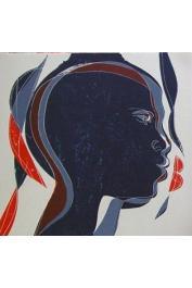 SENGHOR Léopold Sedar, ERNI Hans (illustrations) - Terre promise d'Afrique. Symphonie en noir et or (illustration intérieure)