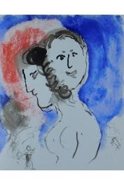 SENGHOR Léopold Sedar, CHAGALL Marc (lithographies de) - Lettres d'hivernage (illustrations)