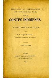 EQUILBECQ François Victor - Essai sur la littérature merveilleuse des noirs. Suivi de Contes indigènes de l'Ouest Africain français