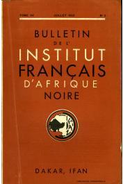 Bulletin de l'IFAN - Série A et B - Tome 15 - n°3 - Juillet 1953