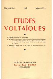 Etudes Voltaïques - Mémoire n° 4