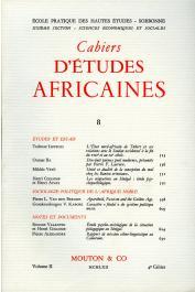 Cahiers d'études africaines - 008
