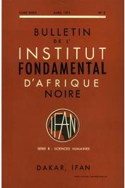 Bulletin de l'IFAN - Série B - Tome 33 - n°2 - Avril 1971