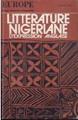 Collectif - Littérature nigeriane d'expression anglaise