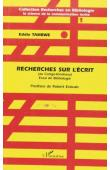 TAMBWE KITENGE BIN KITOKO Eddie - Recherches sur l'écrit (au Congo-Kinshasa). Essai de bibliologie