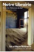 Notre Librairie - 160  La critique littéraire