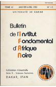 Bulletin de l'IFAN - Série B - Tome 45 - n°1/2 - Janvier/Avril 1983