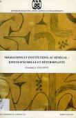 GUILMOTO Christophe Z. - Migrations et institutions au Sénégal, effets d'échelle et déterminants
