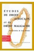 POIRIER Jean - Etudes de droit africain et de droit malgache