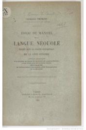THOMANN Georges - Essai de manuel de la langue Néouolé parlée dans la partie occidentale de la Côte d'Ivoire