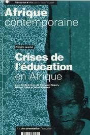 HUGON Philippe, GAUD Michel, PENOUIL Marc, (sous la direction de) - Crises de l'éducation en Afrique