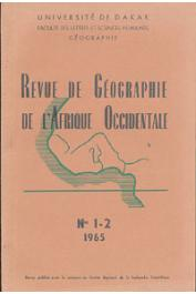 Collectif - Revue de Géographie de l'Afrique Occidentale