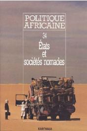 Politique africaine - 034 - Etats et sociétés nomades