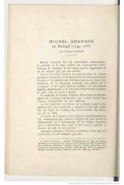 LACROIX Alfred - Michel Adanson au Sénégal (1749-1753)