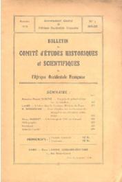 Bulletin du comité d'études historiques et scientifiques de l'AOF - Tome 02 - n°2 - Avril-Juin 1919