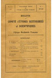 Bulletin du comité d'études historiques et scientifiques de l'AOF - Tome 03 - n°2 - Avril-Juin 1920 (BCEHSAOF)