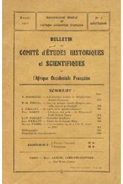 Bulletin du comité d'études historiques et scientifiques de l'AOF - Tome 03 - n°3 - Juillet-Septembre 1920 (BCEHSAOF)