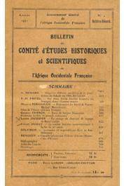 Bulletin du comité d'études historiques et scientifiques de l'AOF - Tome 04 - n°4 - Octobre-Décembre 1921