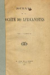 Journal de la Société des Africanistes - Tome 01 - fasc. 2 - 1931