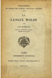 RAMBAUD J.B. - La langue wolof