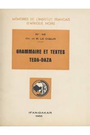 LE COEUR Charles et  Marguerite - Grammaire et textes Teda-Daza