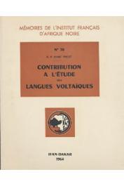 PROST André, (R.P.) - Contribution à l'étude des langues voltaïques