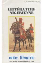 Notre Librairie - 107  Littérature nigérienne