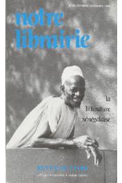 Notre Librairie - 081 - La littérature sénégalaise