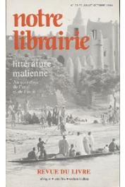 Notre Librairie - 075/076 - Littérature malienne. Au carrefour de l'oral et de l'écrit