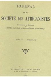 Journal de la Société des Africanistes - Tome 21 - fasc. 1 - 1951 - Fouilles dans la région du Tchad (III). Goulfeil