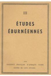 Etudes Eburnéennes - 03, BONNEFOY C., MIEGE Jacques- Tiagba. Notes sur un village Aïzi